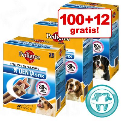 100 + 12 besplatno! 2 x 56 kom Pedigree Dentastix