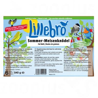 Boules de graisse pour oiseaux Lillebro, spécial été