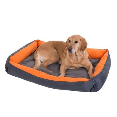 Cama Variabel gris y naranja para perros
