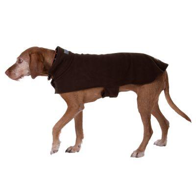 Cappotto per cani in pile Classic Fleece - marrone