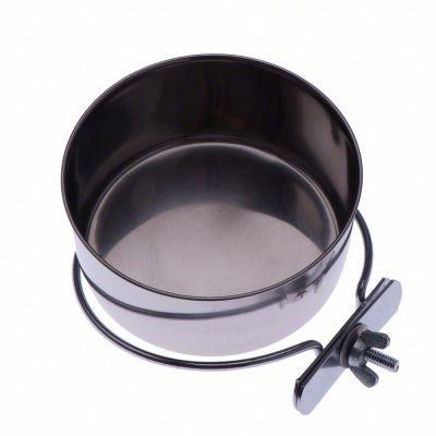 Ciotola in acciaio con supporto da appendere