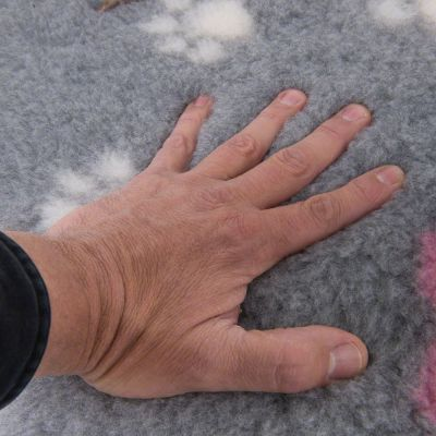 Coperta per cani Isobed zooplus grigia con zampine