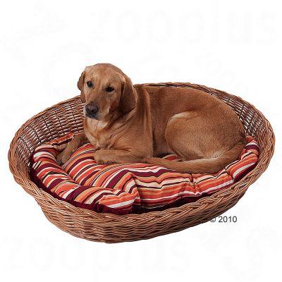 Corbeille en osier pour chien