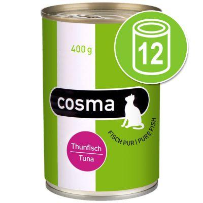 Cosma Original in Gelei Voordeelpakket Kattenvoer 12 x 400 g