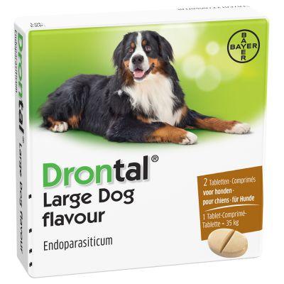 Drontal Large Dog Flavour - Vanaf 35 kg