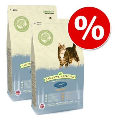 Ekonomipack: 2 x James Wellbeloved kattfoder till lågpris!