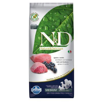 Farmina N&D Grain Free Adult Medium Agnello e Mirtillo