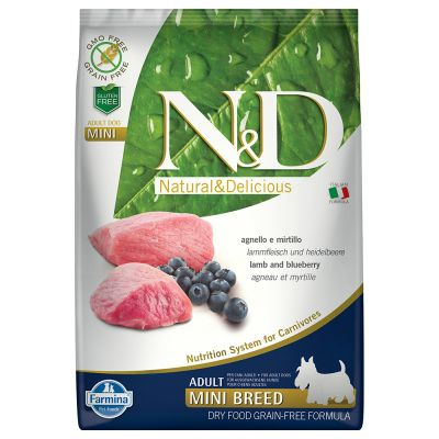 Farmina N&D Grain Free Adult Mini Agnello e Mirtillo