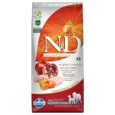 Farmina N&D Grain Free Pumpkin Adult Medium/Maxi Pollo, Zucca & Melograno