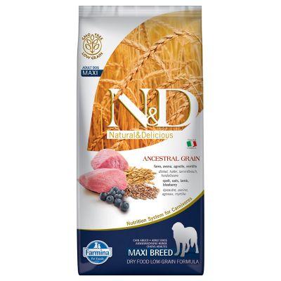 Farmina N&D Low Grain Adult Maxi Agnello e Mirtillo