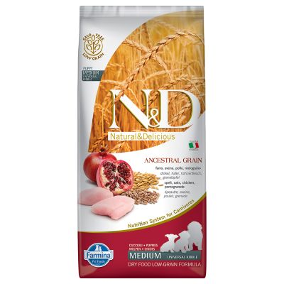 Farmina N&D Low Grain Puppy Medium Pollo e Melograno