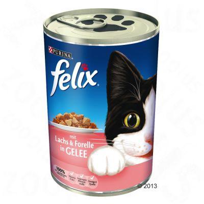 Felix Häppchen in Gelee oder Leckerbissen in Soße 6 x 400 g - zum Sparpreis!