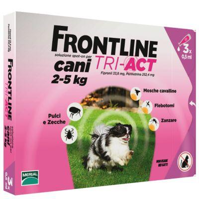 Frontline Tri-Act soluzione spot-on per cani 2-5 kg