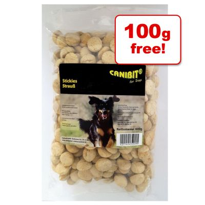 500g CANIBIT Ostrich Stickies + 100g Free!*