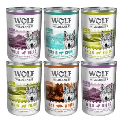 5 + 1 gratis! Wolf of Wilderness, 6 x 400 g
