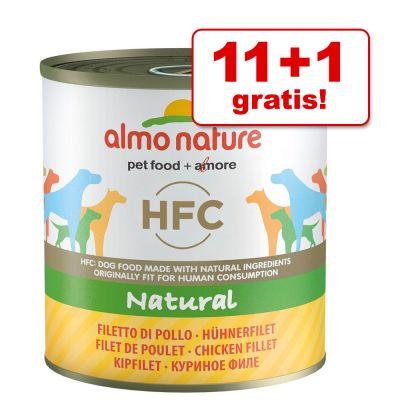 11 + 1 gratis! 12 x 290 / 280 g Almo Nature HFC