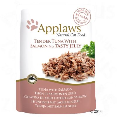 40 + 8 gratis! 48 x 70 g Applaws Buste in Jelly