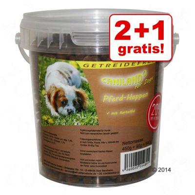 2 + 1 gratis! 3 x 540 g Caniland Soft bocconcini di cavallo senza cereali