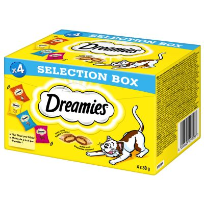 3 + 1 gratis! 4 x 30 g Catisfactions Selection Box
