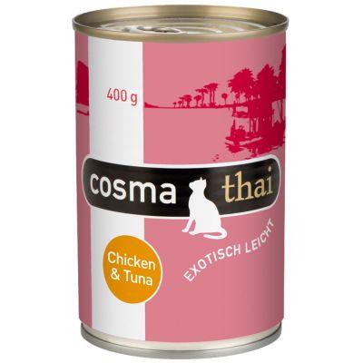 10 + 2 gratis! 12 x 400 g Cosma Thai in gelatina