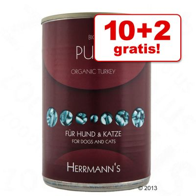 10 + 2 gratis! 12 x 400 g Herrmanns Carne pura