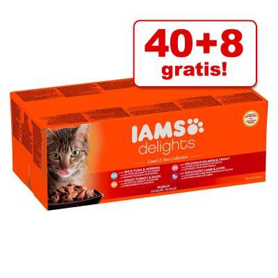40 + 8 gratis! 48 x 85 g IAMS