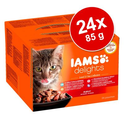 18 + 6 gratis! 24 x 85 g IAMS Delights