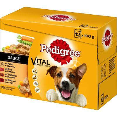 10 + 2 gratis! 12 x 100 g Pedigree Vital Protection