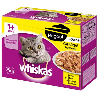 10 + 2 gratis! 12 x 85 g Whiskas Ragout
