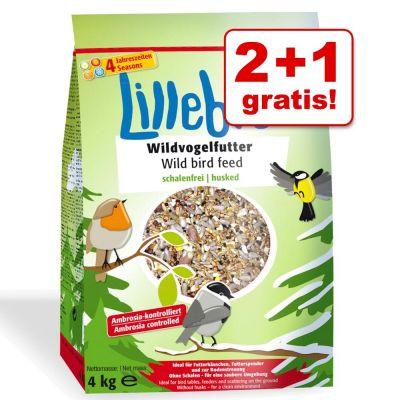 2 + 1 gratis! 3 x 4 kg Lillebro per uccelli selvatici