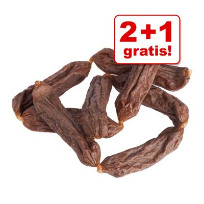 2 + 1 gratis! 3 x 8 pz Pitti Dried Sausages salamini di carne semi-umidi