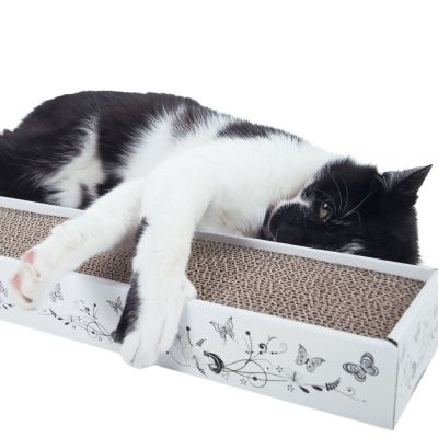 multi scratch griffoir en carton pour chat zooplus. Black Bedroom Furniture Sets. Home Design Ideas