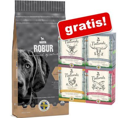 Großgebinde Bozita Robur + 6 x 370 g Bozita Mix Nassfutter gratis!
