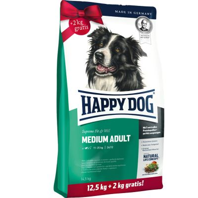Happy Dog Fit & Well + 2 / 2,5 kg gratis!