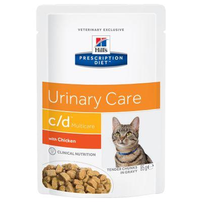 Hill's c/d Multicare Urinary Care Prescription Diet Feline - umido Pollo
