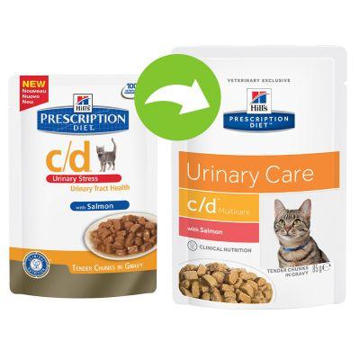 Hill's c/d Prescription Diet Feline - umido Salmone