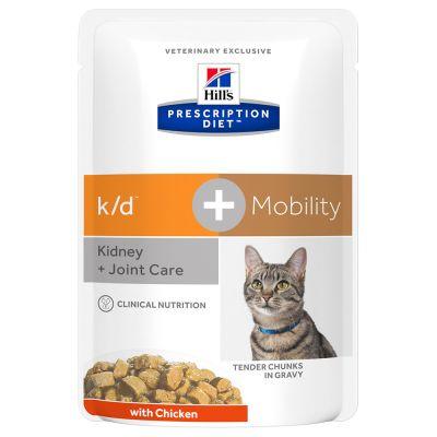 Hill's Prescription Diet Feline k/d+Mobility - umido Pollo