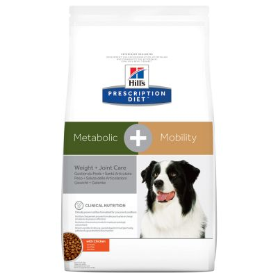 Hill's Prescription Diet Metabolic + Mobility Weight + Joint Care ração para cães com frango