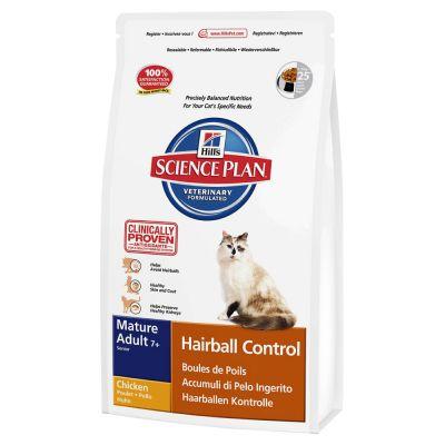 Hill's Science Plan Feline Mature 7+ Hairball Control Pollo