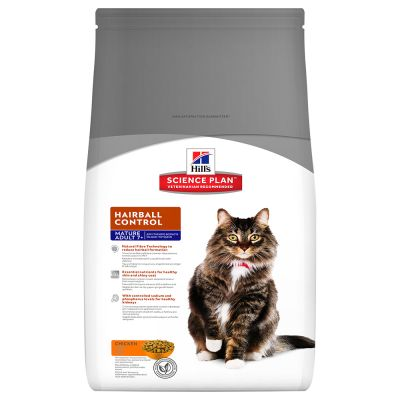 Hill's Science Plan Feline Mature 7+ Hairball Control Pollo