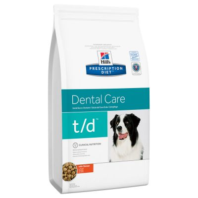 Hill's t/d Prescription Diet Canine Dental Care secco