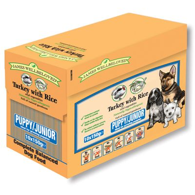 James Wellbeloved Puppy & Junior - Tacchino con riso