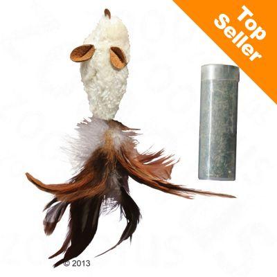 Jouet KONG Feather Mouse avec menthe à chat