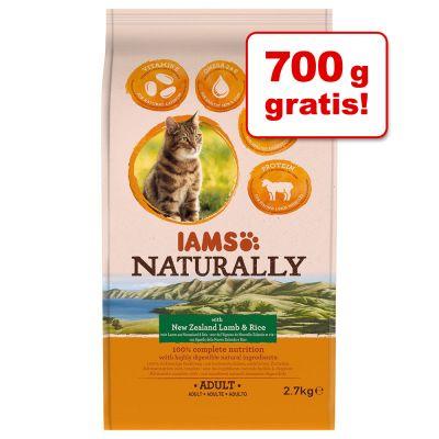 2 kg + 700 g gratis! 2,7 kg IAMS Naturally Cat