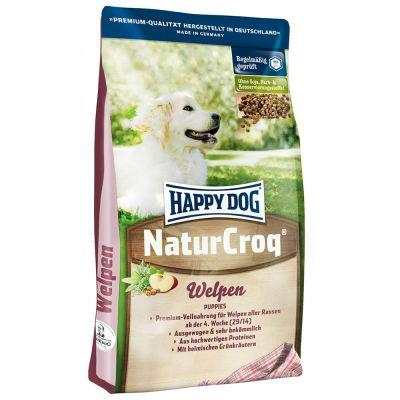 15 + 3 kg / 2 kg gratis! 18 kg / 17 kg Happy Dog NaturCroq