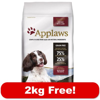 13kg Applaws Dry Dog Food + 2kg Free!*