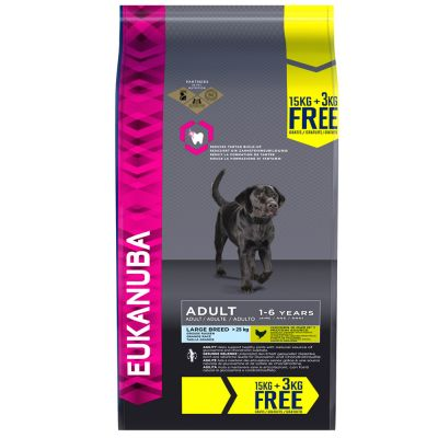15 + 3 kg gratis: 18 kg Eukanuba droogvoer - bonusbag!
