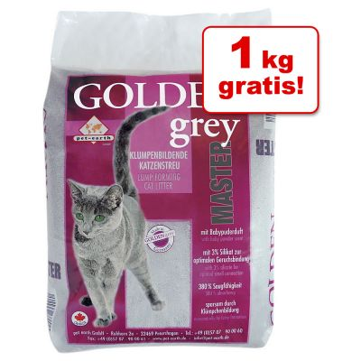 13 + 1 kg gratis! 14 kg Lettiera Golden Grey Master