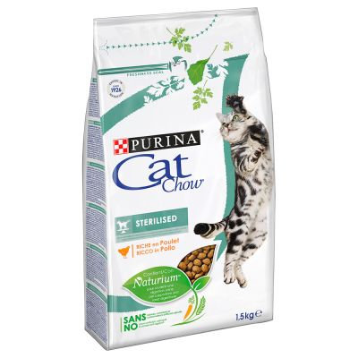 1,5 kg Purina Cat Chow + 8 x 85 g Gourmet Perle gratis!