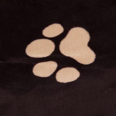 Letto per cani Oekobed in peluche con motivo a zampine